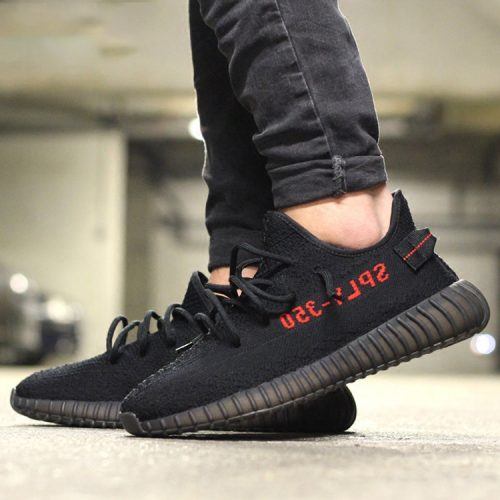 Yeezy 350 Boost V2 Black Red photo review